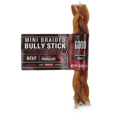 Good Lovin' Mini Braided Bully Stick Dog Chew, 0.25 oz.
