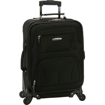 Rockland Luggage 20 Expandable Carry-On Spinner Upright - Black