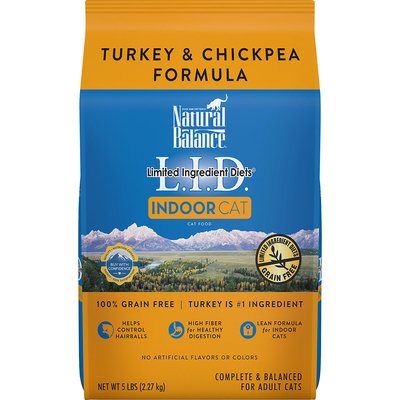 Natural Balance Limited Ingredient Diets Indoor Adult Cat Food - Grain Free, Turkey and Chickpea size: 5 Lb