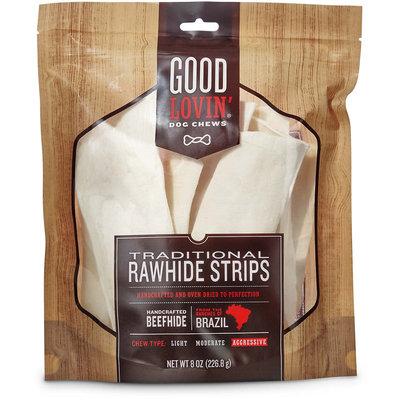 Good Lovin' Traditional Rawhide Strip Dog Chews, 8 oz.