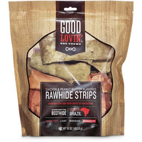 Good Lovin' Chicken and Peanut Butter Flavored Rawhide Strip Dog Chews, 16 oz.