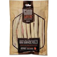 Good Lovin' Peanut Butter Flavored Mini Rawhide Roll Dog Chews, 5.5 oz.