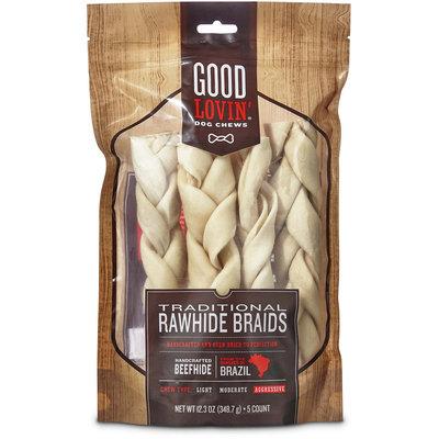 Good Lovin' Traditional Rawhide Braid Dog Chews, 12.3 oz.