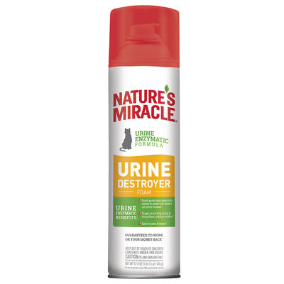 Nature's Miracle Just for Cats Urine Destroyer Stain & Odor Foam, 17.5 oz.