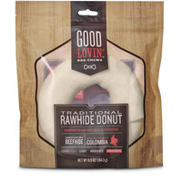 Good Lovin' Traditional Rawhide Donut Dog Chew, 6.5 oz.