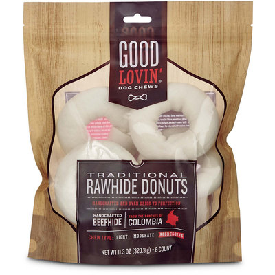 Good Lovin' Traditional Rawhide Donut Dog Chews, 11.3 oz.