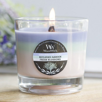 WoodWick Tri-Pour Greenhouse Lilac, Secluded Garden & Fresh Blossoms 10.5-oz. Jar Candle, Multicolor
