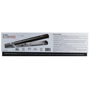 Izutech Ktx 450 Titanium Digital Flat Iron, Black, 1.25 Inch