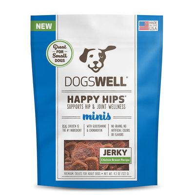 Dogswell Happy Hips Minis Chicken Jerky Dog Treats, 4.3 oz