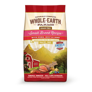 Merrick Whole Earth Farms Merrick - Whole Earth Farms 61185514 12 lbs Grain Free Small Bird Pork Beef Lamb
