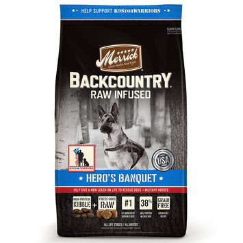 Merrick Backcountry Grain Free Hero's Banquet Dry Dog Food, 22lbs