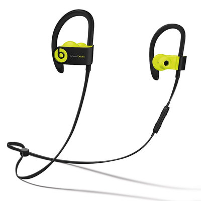 Beats by Dr. Dre Powerbeats3 Wireless Earphones - Shock Yellow - Stereo - Shock Yellow - Wireless - Bluetooth - Earbud, Over-the-ear, Behind-the-neck - Binaural - In-ear