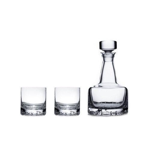 Erik Double Old Fashioned Glasses & Decanter Set