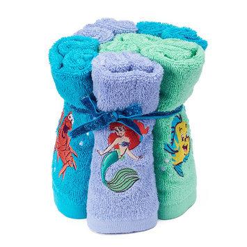 Disney's 6-pack Ariel Washcloth, Multicolor