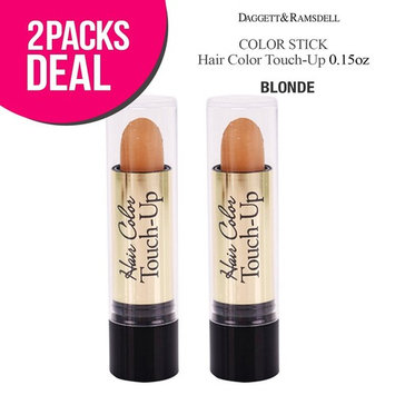 (2 PACK) Root Color Cover Stick Hair Color Touch-Up 0.15oz (BLONDE): Beauty