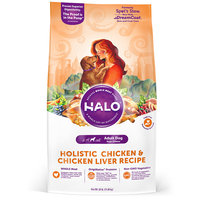 Halo Adult Holistic Chicken & Chicken Liver Dry Dog Food, 25 lbs