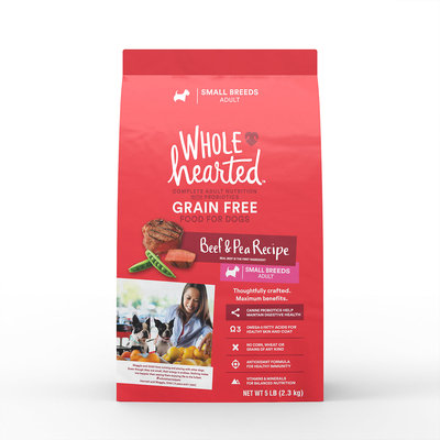 Wholehearted Grain Free Small Breed Adult Beef And Pea