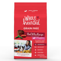 WholeHearted Grain Free Small Breed Adult Beef and Pea Recipe Dry Dog Food, 14 lbs.