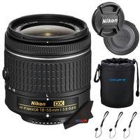 Nikon AF-P DX NIKKOR 18-55mm f/3.5-5.6G VR Lens + Pixi-Starter Pack