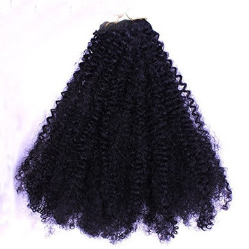 Furice Afro Kinky Curly Weft Human Hair Weave Bulk Bundles Weave Synthetic Braid Hair Extensions 120g