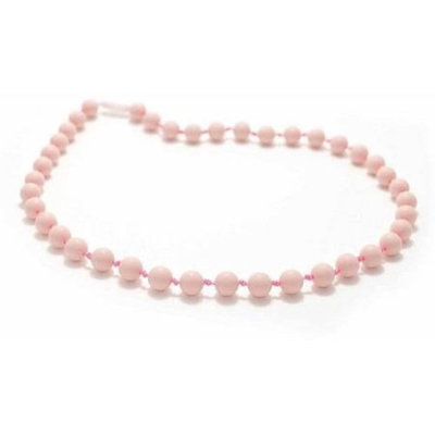 Bitey Beads Classic Silicone Teething Nursing Necklace - Pale Pink