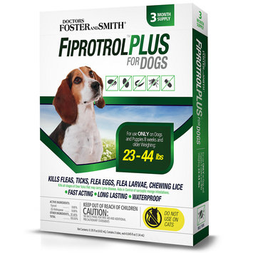 Drs. Foster And Smith Doctors Foster + Smith Fiprotrol Topical Flea & Tick Control For Dogs 23 to 44 lbs, 3 pack