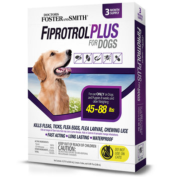 Drs. Foster And Smith Doctors Foster + Smith Fiprotrol Topical Flea & Tick Control For Dogs 45 to 88 lbs, 3 pack