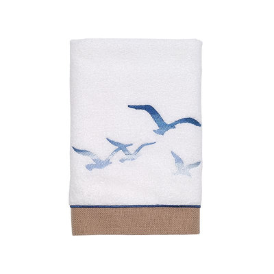 Avanti Seagulls Hand Towel, White