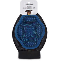 Well & Good Blue 3-in-1 Grooming Mitt for Dogs