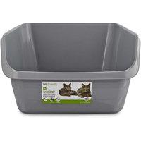 So Phresh Scatter Shield High-Back Litter Box in Gray, 24