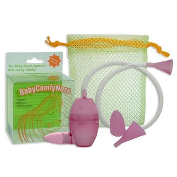 BabyComfyNose Nasal Aspirator MAGENTA With Extra Nose Tip and Mouth Piece | #1 Tested Snot Sucker