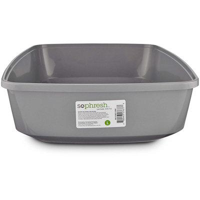 So Phresh Gray Open Cat Litter Box, Large