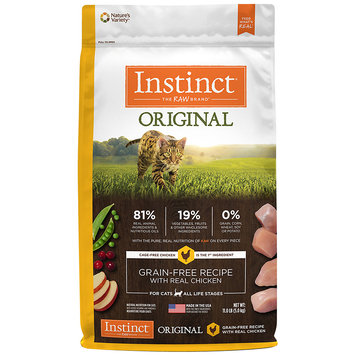 Natures Variety Instinct Original Grain Free Recipe with Real Chicken Dry Cat Food, 11 lbs.