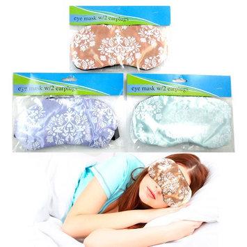 Atb 1 Sleeping Eye Mask 2 Ear Plugs Silk Blindfold Cover Shade Travel Aid Rest Sleep