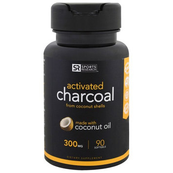 Sports Research, Activated Charcoal From Coconut Shells, 300 mg, 90 Softgels