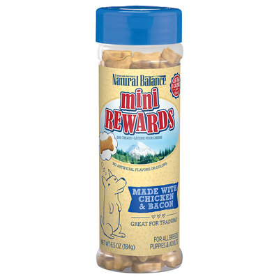 Natural Balance Mini Rewards Chicken & Bacon Formula Dog Treats, 6.5 oz.