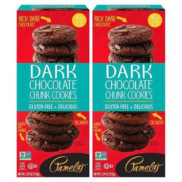 Pamela's Dark Chocolate Chunk Traditional Cookies, 5.29 OZ, Pack of 2 [Dark Chocolate Chunk]