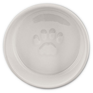 Harmony White MEOW Ceramic Cat Bowl, 1 Cup, Small