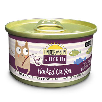 Canidae Under The Sun Witty Kitty Hooked On You Grain Free Cat Wet Food With Cod & Trout, 3 oz (18-pack)