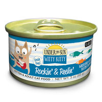 Canidae Under The Sun Witty Kitty Rockin' & Reelin' Grain Free Cat Wet Food With Whitefish & Salmon, 3 oz (18-pack)