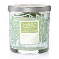 Yankee Candle simply home Sun-Kissed Leaves 7-oz. Decal Jar Candle, Lt Green