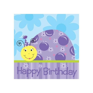 Little Lady Bug Happy Birthday Paper Lunch Napkins (18 Pack)