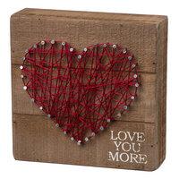 Love You More String Box Sign Art, Multicolor