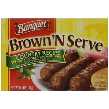 Banquet Brown 'N Serve Country Recipe Precooked Sausage Links, 6.4 Ounce Box, 10 Count