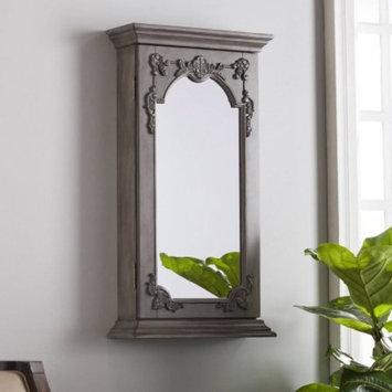 Southern Enterprises Jakin Wall Mount Jewelry Mirror, Antique Gray
