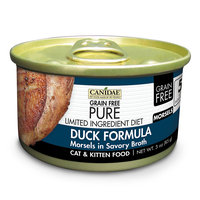 Canidae Grain Free Pure Limited Ingredient Diet Cat Wet Food Morsels With Duck, 3 oz (18-pack)