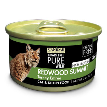 Canidae Grain Free Pure Wild Redwood Summit Cat Wet Food With Turkey, 3 oz (18-pack)