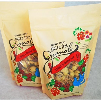 Trader Joe's Gluten Free Granola Cranberry Maple Nut, 12oz, 2 packs