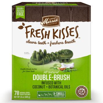 Merrick Fresh Kisses Coconut Oil + Botanicals Extra Small Brush Dental Dog Treats, 78 Count