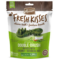 Merrick Fresh Kisses Coconut Oil + Botanicals Extra Small Brush Dental Dog Treats, 20 Count